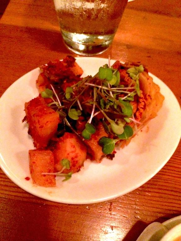 pickled radish from biwa japanese restaurant