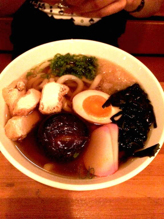 thick japanese noodles soup at biwa japanese restaurant