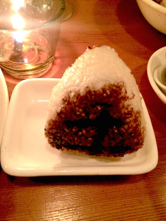 grilled japanese rice ball from biwa japanese restuarant